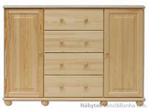 dřevěná komoda, prádelník z masivního dřeva borovice KD120 pacyg
