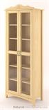 dřevěná prosklená vitrína, knihovna, z masivního dřeva borovice Castello CAS-S-09 drewm