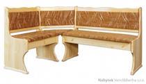 dřevěná čalouněna rohová jídelní lavice z masivního dřeva borovice NR107 pacyg