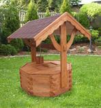 dřevěná zahradní dekorační studna 2 botodre pr.110