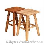 dřevěný jídelní taburet z masivního dřeva borovice drewfil 7
