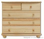 dřevěná komoda, prádelník z masivního dřeva borovice KD149 pacyg