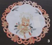 vánoční textilní ubrus pr.30 cm