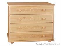 dřevěná komoda, šuplíková prádelník z masivního dřeva borovice z kolekce dřevořezba P29 drewfilip