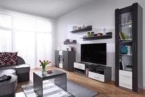 moderní obývací stěna, obývací pokoj  z dřevotřísky Lido 1 gib