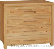moderní dřevěná komoda, prádelník z masivního dřeva borovice DEL SOL drewfilip 15