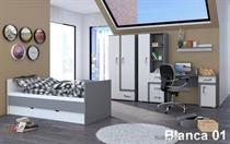 moderní dětský pokoj, studentský pokoj  z dřevotřísky MDF Blanca 01 adrk