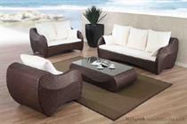 Luxusní sedací souprava, zahradní ratanový nábytek, z umělého ratanu PRSF094 jandr