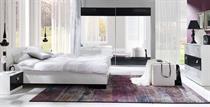 ložnicová sestava nábytku, ložnice Lux Stripes bílý / černé pruhy maride