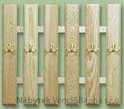 dřevěný věšák z masivu  drewm d30377