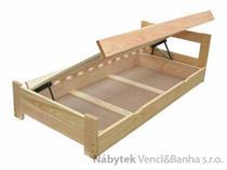 dřevěná jednolůžková postel s úložným prostorem Sensation chalup