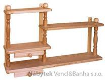 dřevěná závěsná polička z masivního dřeva borovice drewfilip 30