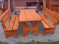 dřevěný zahradní nábytek vencl set 1+2 Zwykly 1 botodre