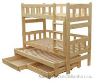 patrová dřevěná postel masivní Niagara chalup