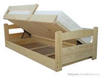 dětská dřevěná jednolůžková postel s úložným prostorem Turbo chalup