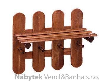 dřevěný závěsný věšák z masivního dřeva drewfilip 24 met 24467