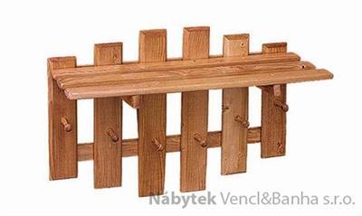 dřevěný závěsný věšák z masivního dřeva drewfilip 16