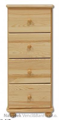 dřevěná komoda, prádelník z masivního dřeva borovice KD112 pacyg