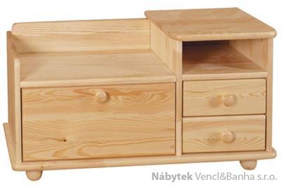 dřevěný botník z masivního dřeva borovice drewfilip 15