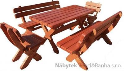 dřevěný zahradní nábytek set smrk 5 cm 1S+2L+2K  euromeb 8