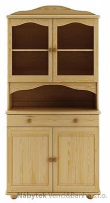 dřevěný kredenc, příborník z masivního dřeva borovice KW102 pacyg