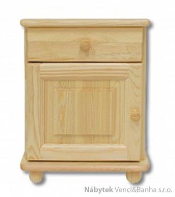 dřevěný noční stolek z masivního dřeva borovice SN101 pacyg