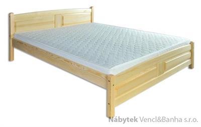 dřevěná dvojlůžková postel z masivního dřeva LK104