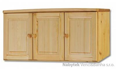 dřevěný nadstavec na šatní skříň z masivního dřeva borovice SF144 pacyg