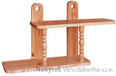 dřevěná závěsná polička z masivního dřeva borovice drewfilip 28