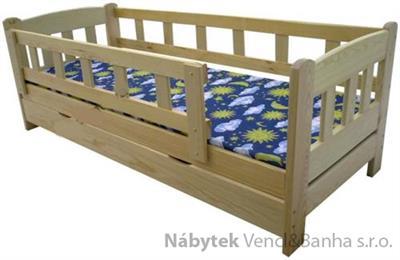 dřevěná dvojlůžková postel s úložným prostorem Bingo chalup