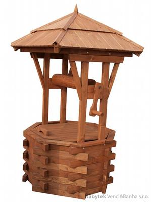 dřevěná zahradní dekorační studna STU5 pr.70 jandr