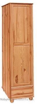 dřevěná šatní skříň jedno dvířková z masivního dřeva borovice drewfilip 17