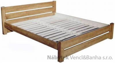 dřevěná jednolůžková postel z masivního dřeva Camelot chalup