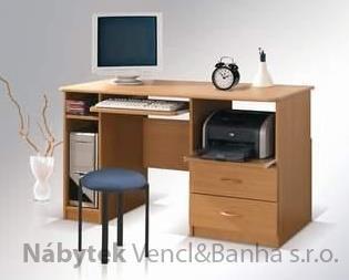 moderní psací stolek PC z dřevotřísky Max se šupletem maride