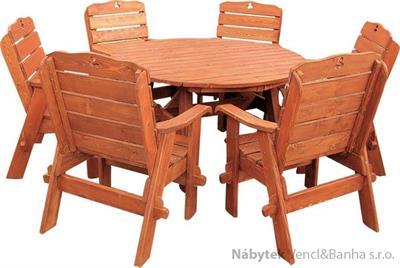 dřevěný zahradní nábytek Jendrzej 1+6 drewfilip 28