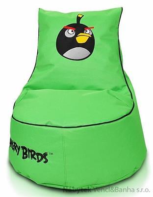 Sedací vak, sedací pytel Black bird-bomb seat S furin