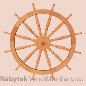 dřevěná závěsná dekorace námořnické kormidelní kolo ster velké z masivního dřeva drewfilip 33