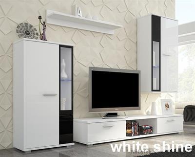 moderní obývací stěna, obývací pokoj z MDF Leon adrk