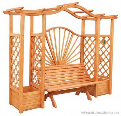 dřevěné prvky na dřevěná zahradní pergola, zahradní dekorace PE4 jandr