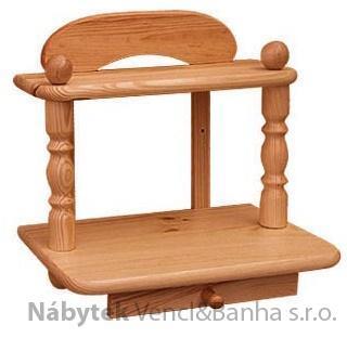 dřevěná závěsná polička z masivního dřeva borovice drewfilip 44