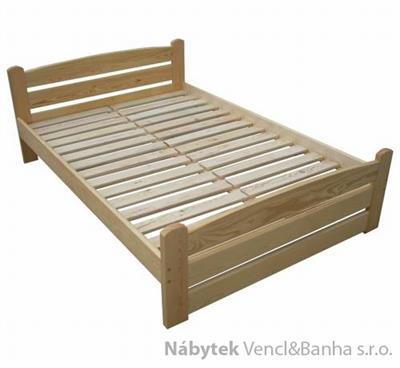 dřevěná dvojlůžková postel z masivního dřeva Standart chalup