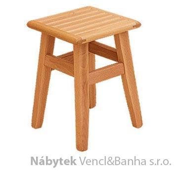 dřevěný taburet z masivního dřeva buk drewfil 15