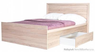 moderní jednolůžková postel z dřevotřísky Finezja F10 maride