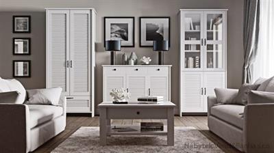 sektorový nábytek, obývací pokoj, jídelna, pracovna, kancelář z dřevotřísky Orient gala