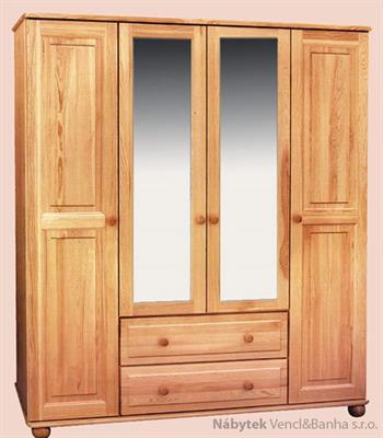 šatní skříň čtyř dvířková z masivního dřeva borovice drewfilip 2
