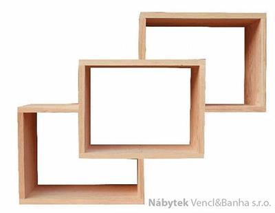 dřevěná polička z masivu Mango X drewm