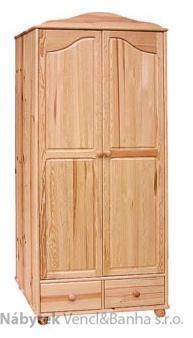 šatní skříň dvojí dvířková z masivního dřeva borovice drewfilip 11 Szafa II 2D/2S falbana