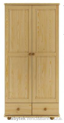 dřevěná šatní skříň z masivního dřeva borovice SF122 pacyg