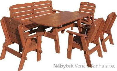 dřevěný zahradní nábytek set Jedrzej9 1S+1L+4K  euromeb 9