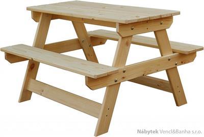 dětský dřevěný zahradní nábytek, piknikový set Mini andr